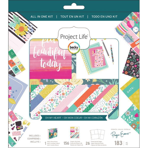 Scrapbooking  Project Life All-In-One Album Kit Paige Evans Oh My Heart Paper Collections 12x12