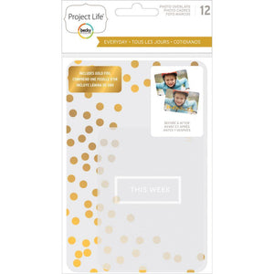 Scrapbooking  Project Life Everyday Edition Transparent Photo Overlays 12/Pkg Paper Collections 12x12