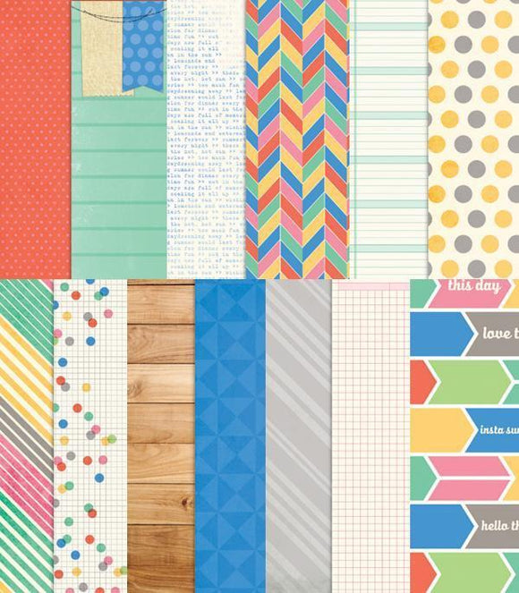 Scrapbooking  Saltwater Paper Collection Packs Paper Collections 12x12