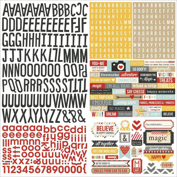 Scrapbooking  Say Cheese Expressions Cardstock Stickers 12x12 Paper Collections 12x12