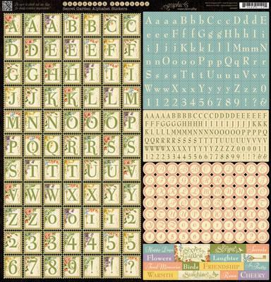 Scrapbooking  Secret Garden Alphabet  Stickers Paper Collections 12x12