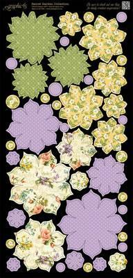 Scrapbooking  Secret Garden Flowers Paper Collections 12x12