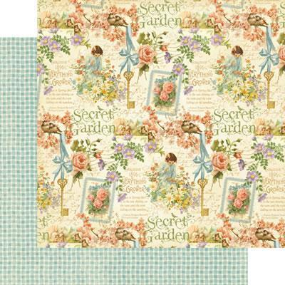Scrapbooking  Secret Garden Posy Patch Paper Collections 12x12