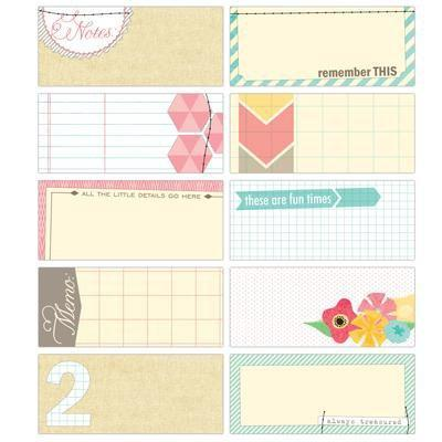 Scrapbooking  Serendipity Tiny Tags Paper Collections 12x12
