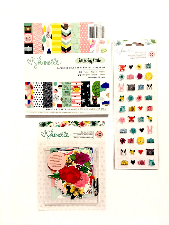 Scrapbooking  Shimelle Little By Little Pack Paper Collections 12x12