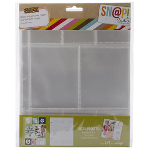 "Scrapbooking  Simple Stories Sn@p! Insta Pocket Pages For 6""X8"" Binders Paper Collections 12x12"