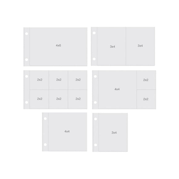 Scrapbooking  Sn@p 4x6 Pocket Pages Horizontal Variety Pack (12pk) Paper Collections 12x12