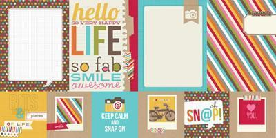 Scrapbooking  Sn@p Life 4x4 Quote and 6x8 Photo Mat Paper Collections 12x12