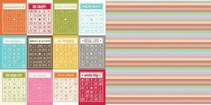 Scrapbooking  Sn@p Life Bingo Cards Paper Collections 12x12