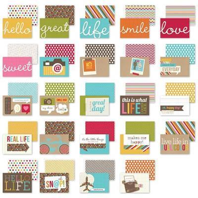 Scrapbooking  Sn@p Life Snappy Sayings 4x6 Cards Paper Collections 12x12