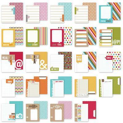 Scrapbooking  Sn@p Life Snappy Thoughts 3x4 Cards Paper Collections 12x12