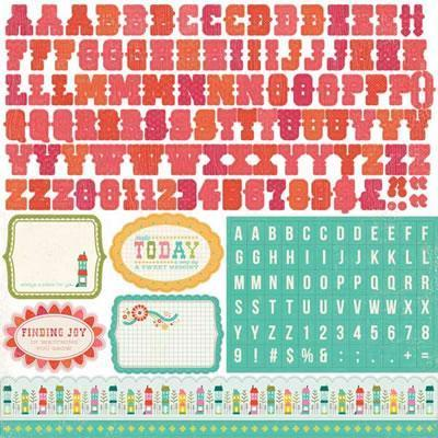 Scrapbooking  So Happy Together Alpha Stickers Paper Collections 12x12