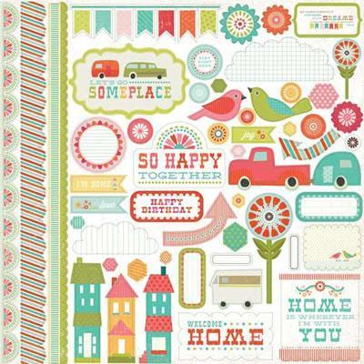 Scrapbooking  So Happy Together Element Stickers Paper Collections 12x12