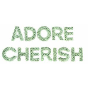Scrapbooking  Sparklet Words Crystal Cherish and Adore Paper Collections 12x12
