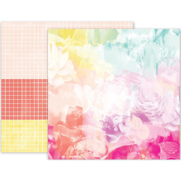 Scrapbooking  Summer Lights 12x12 Double Sided Paper - No:8 Paper Collections 12x12
