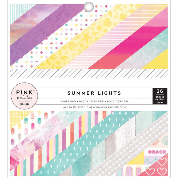 Scrapbooking  Summer Lights 6x6 Paper Pad Paper Collections 12x12