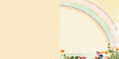 Scrapbooking  Sunday Picnic Rainbow Sky Paper Collections 12x12