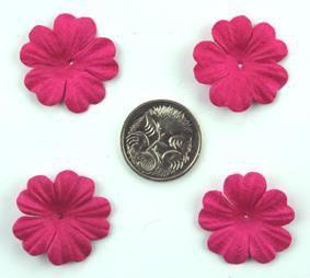 Scrapbooking  Tara Hot Pink 2.5cm Flowers Paper Collections 12x12