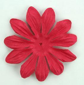 Scrapbooking  Tara Red  6cm Flowers Paper Collections 12x12