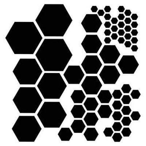Scrapbooking  The Crafters Workshop Hexagons Template 6x6 inch Paper Collections 12x12