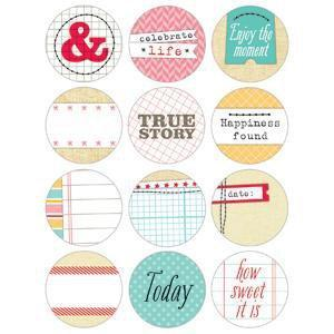Scrapbooking  The Sweet Life 1.25 inch Tidbits Paper Collections 12x12