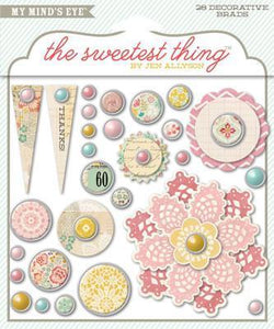 Scrapbooking  The Sweetest Thing Lavender The Best Decorative Brads Paper Collections 12x12