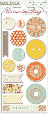 Scrapbooking  The Sweetest Thing Tangerine Hello Buttons Paper Collections 12x12