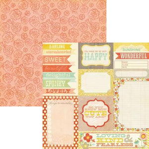 Scrapbooking  The Sweetest Thing Tangerine Hello Greetings Paper Collections 12x12