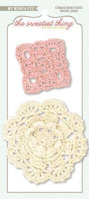 Scrapbooking  The Sweetest Thing Tangerine Sunshine Crocheted Doilies Paper Collections 12x12