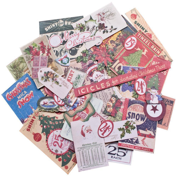 Scrapbooking  Tim Holtz Idea-Ology Christmas Ephemera Pack Paper Collections 12x12