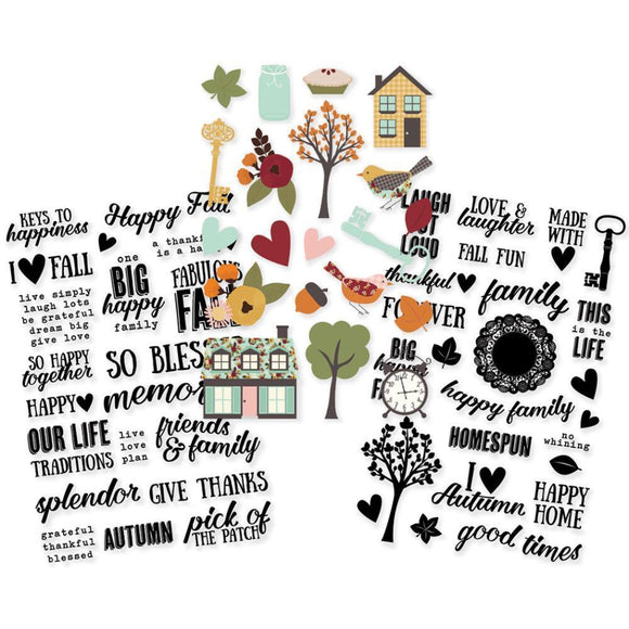 Scrapbooking  Vintage Blessings Clear Stickers 4