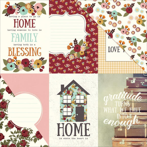 Scrapbooking  Vintage Blessings Double-Sided Cardstock 12