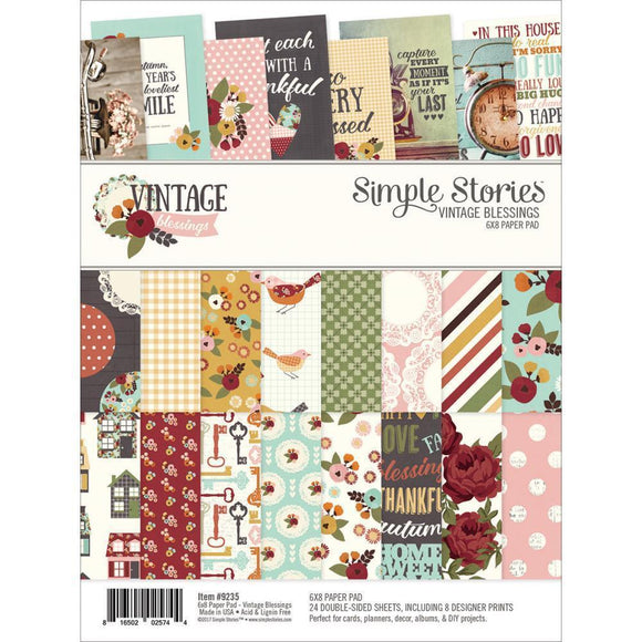 Scrapbooking  Vintage Blessings Double-Sided Paper Pad 6