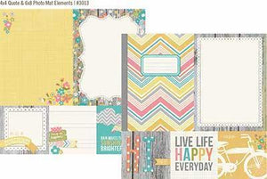 Scrapbooking  Vintage Bliss 4x4 Quote and 6x8 Photo Mat Paper Collections 12x12