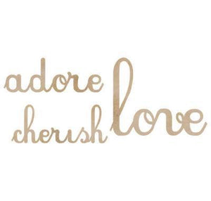 Scrapbooking  Wood Flourish Love Adore Cherish Paper Collections 12x12