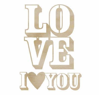 Scrapbooking  Wood Flourish Love You Paper Collections 12x12