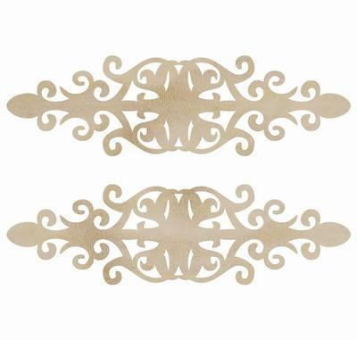 Scrapbooking  Wood Flourish Ornate Plate Paper Collections 12x12