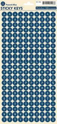Scrapbooking  Woodland Park Sticky Keys Peacock Blue Paper Collections 12x12