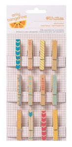 Scrapbooking  Yes Please Clothespins Paper Collections 12x12