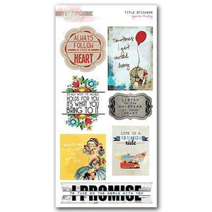 Scrapbooking  Yours Truly Cardstock Title Stickers Paper Collections 12x12