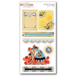 Scrapbooking  Yours Truly Layered Stickers Paper Collections 12x12