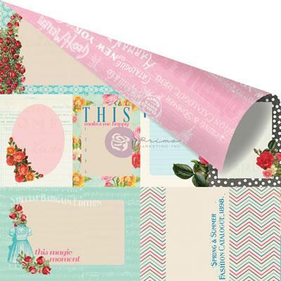 Scrapbooking  Anna Marie Sewing Basket Paper 12x12 Prima Marketing
