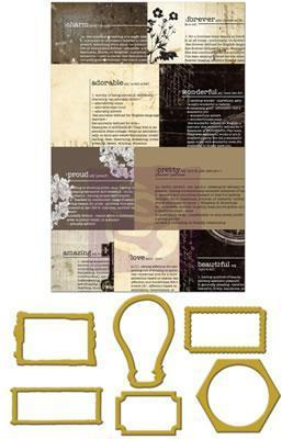 Scrapbooking  Engraver Newsprint Mini Frames Prima Marketing