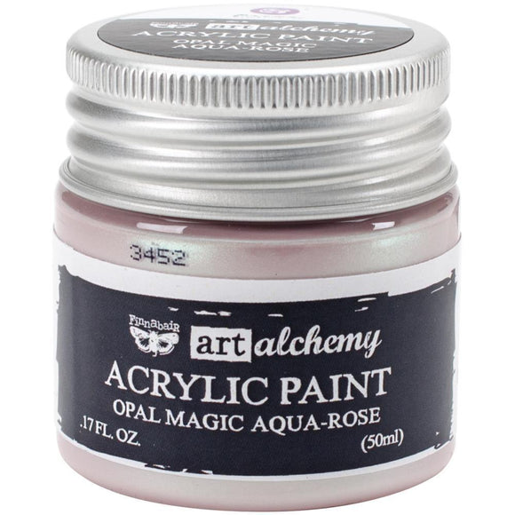 Scrapbooking  Finnabair Art Alchemy Acrylic Paint 1.7 Fluid Ounces - Opal Magic Aqua/Rose Prima Marketing