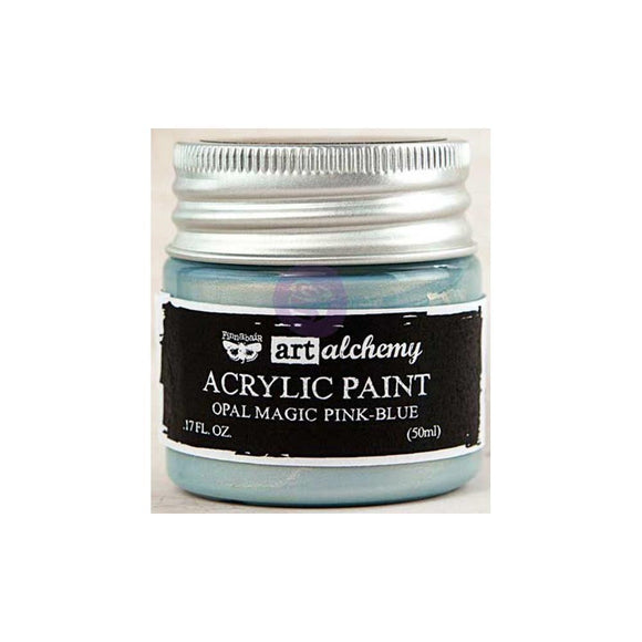 Scrapbooking  Finnabair Art Alchemy Acrylic Paint 1.7 Fluid Ounces - Opal Magic Pink/Blue Prima Marketing