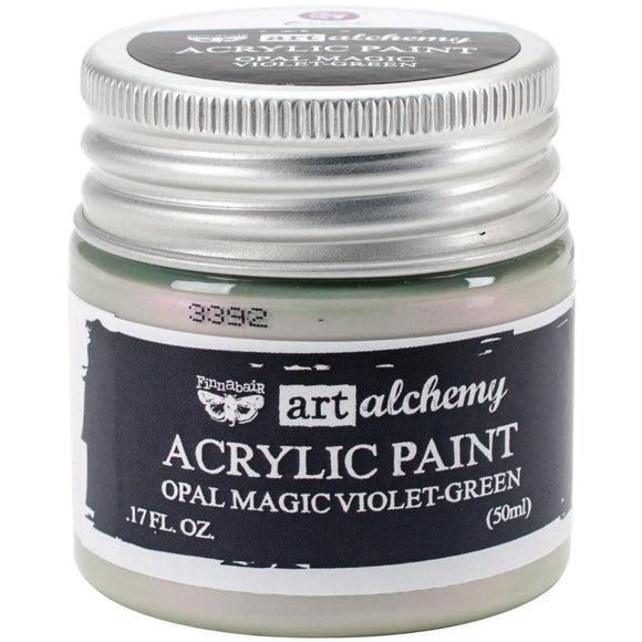 Scrapbooking  Finnabair Art Alchemy Acrylic Paint 1.7 Fluid Ounces - Opal Magic Violet/Green Prima Marketing