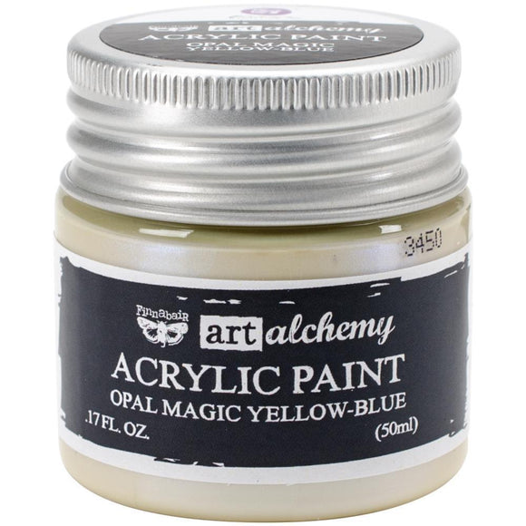Scrapbooking  Finnabair Art Alchemy Acrylic Paint 1.7 Fluid Ounces - Opal Magic Yellow/Blue Prima Marketing