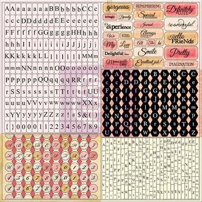 Scrapbooking  Lyric 12x12 Tiny Alphabet Stickers Prima Marketing