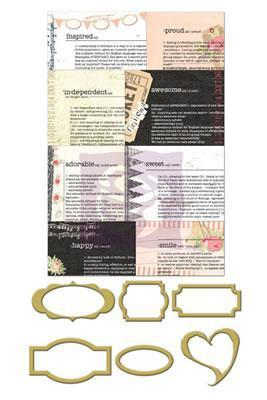 Scrapbooking  Lyric Newsprint Mini Frames Prima Marketing