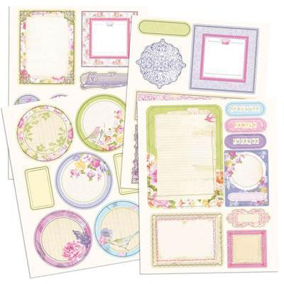Scrapbooking  Meadow Lark Chipboard Stickers Prima Marketing